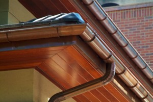 Copper Half-Round Gutters Installed MN