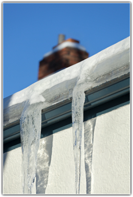 Ice Dam Buildup on a Minnesota Home